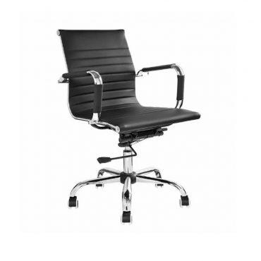 Cadeira Diretor Base Giratória Cromada Eames Office