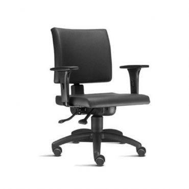 Cadeira Executiva Ergonômica Base Giratória Preta Corporate