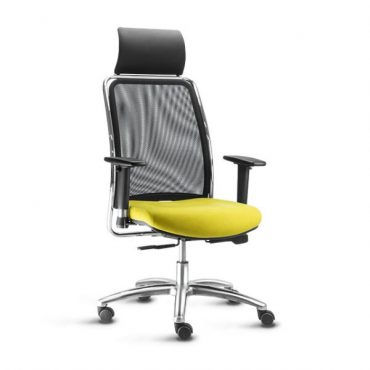 Cadeira Presidente Base Giratória Alumínio Sintra Office