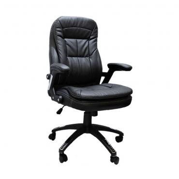 Cadeira Presidente Base Giratória Preta Relax Confort