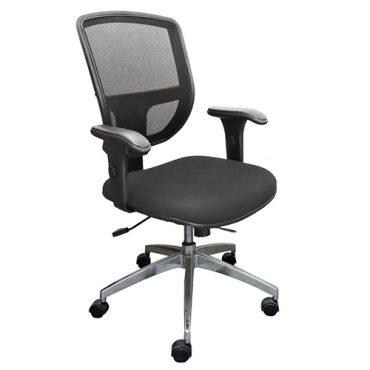 Cadeira Diretor Ergonômica Base Giratória Alumínio Tela Mesh Cayman