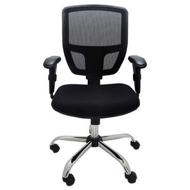 Cadeira Diretor Ergonômica Base Giratória Cromada Tela Mesh Cayman