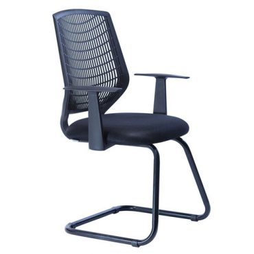 Cadeira Executiva Interlocutor Base Fixa Preta Delli