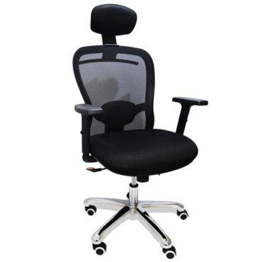 Cadeira Presidente Base Giratória Cromada Tela Mesh CEO Human