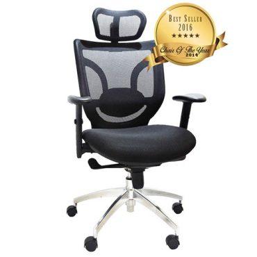 Cadeira Presidente Ergonômica Base Giratória Alumínio Tela Mesh Boss Design