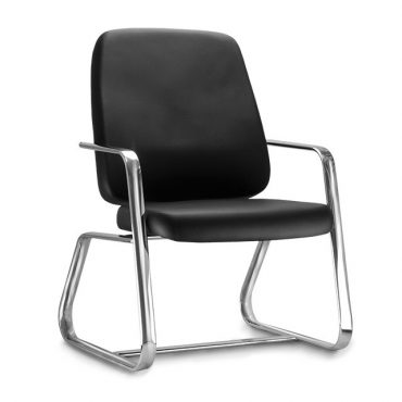 Cadeira de Escritório Base Fixa Cromada Plus