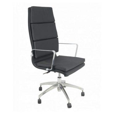 Cadeira Presidente Base Giratória Alumínio Inspired Eames Gomada