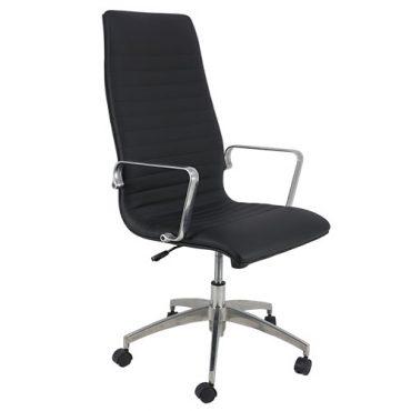 Cadeira Presidente Base Giratória Alumínio Inspired Eames