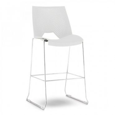 Banqueta com Base Cromada Strike Chair