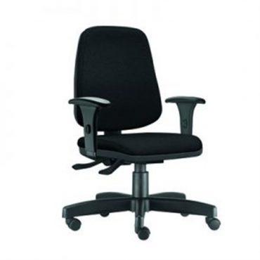 Cadeira Diretor Ergonômica Base Giratória Preta Job Chair