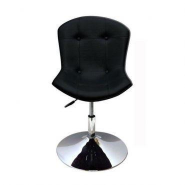 Cadeira Estofada Base Disco Cromada Bertóia