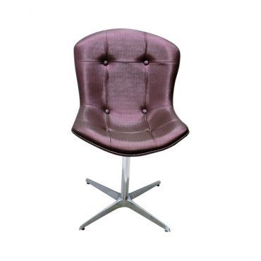 Cadeira Estofada Base Giratória em Alumínio Bertóia