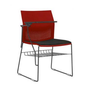 Cadeira Universitária Escamoteável com Porta Livros Dayli