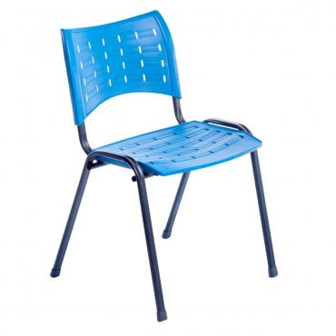 Cadeira em Polipropileno Base Fixa Preta Clifton Chair
