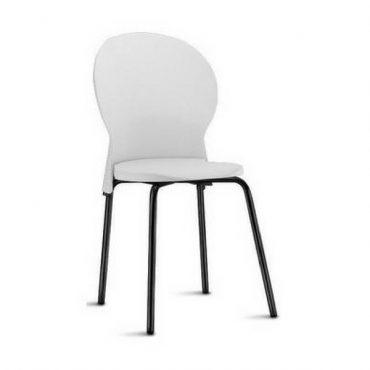 Cadeira em Polipropileno Base Fixa Preta Luna Chair