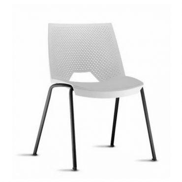 Cadeira em Polipropileno Base Fixa Preta Strike Chair