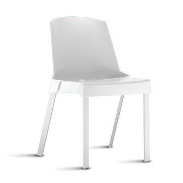 Cadeira em Polipropileno Base Fixa em Alumínio Shine Chair