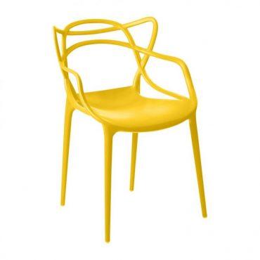 Cadeira em Polipropileno com Braços Base Fixa Alegra Chair