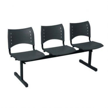 Longarina 3 Lugares Sem Braço Iso Chair