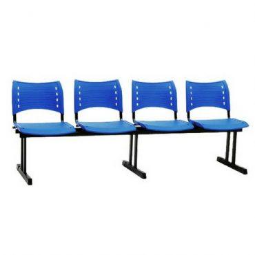 Longarina 4 Lugares Sem Braço Iso Chair