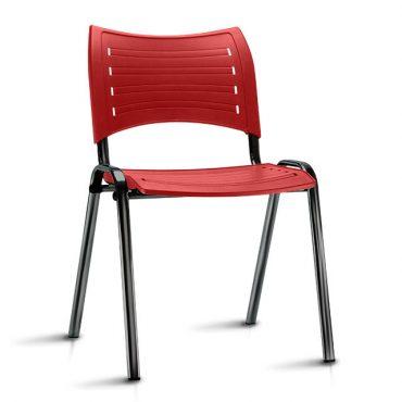 Cadeira em Polipropileno Base Fixa Preta Iso Chair
