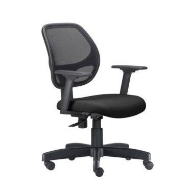 Cadeira Executiva Ergonômica Tela Mesh Base Giratória Preta Job Chair