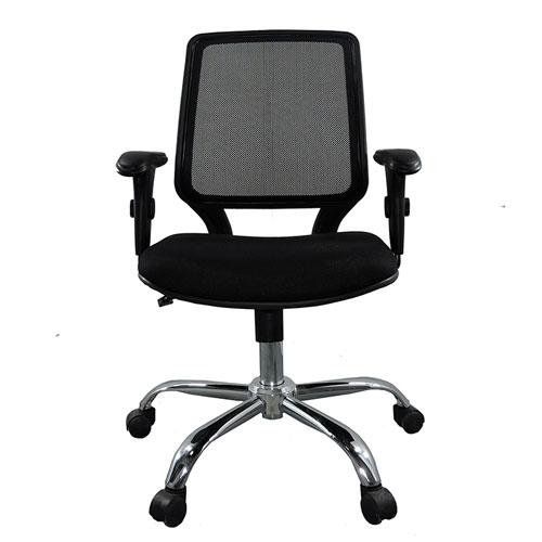 Cadeira Diretor Base Giratória Cromada Corporate Tela