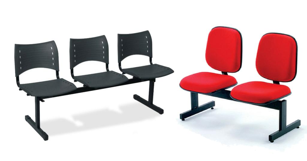 Cadeiras longarinas para recepção