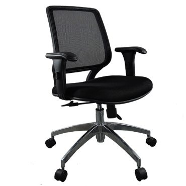 Cadeira Diretor Base Giratória Alumínio Tela Mesh Staff