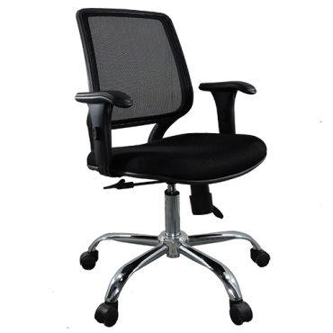 Cadeira Diretor Base Giratória Cromada Tela Mesh Staff