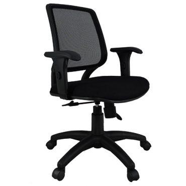 Cadeira Diretor Base Giratória Nylon Tela Mesh Staff