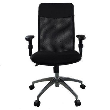 Cadeira Presidente Base Giratória Alumínio Tela Mesh Veneza