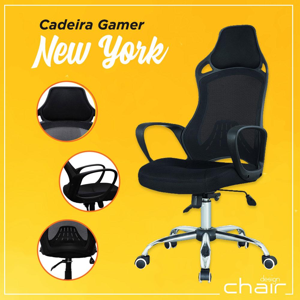 Cadeira Gamer New York - Design Chair