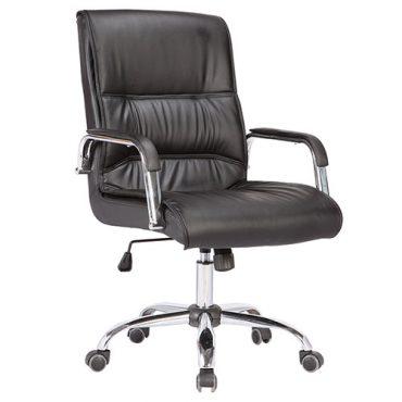 Cadeira Diretor Preta Base Giratória Cromada Buyer