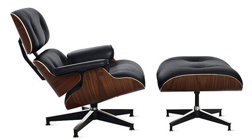 Poltrona Lounge Charles Eames com Puff
