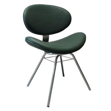 Cadeira Estofada Base 4 Pés Cromado Bella