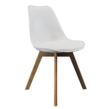 Cadeiras 4 Pés Em Madeira Eames DKR Branca