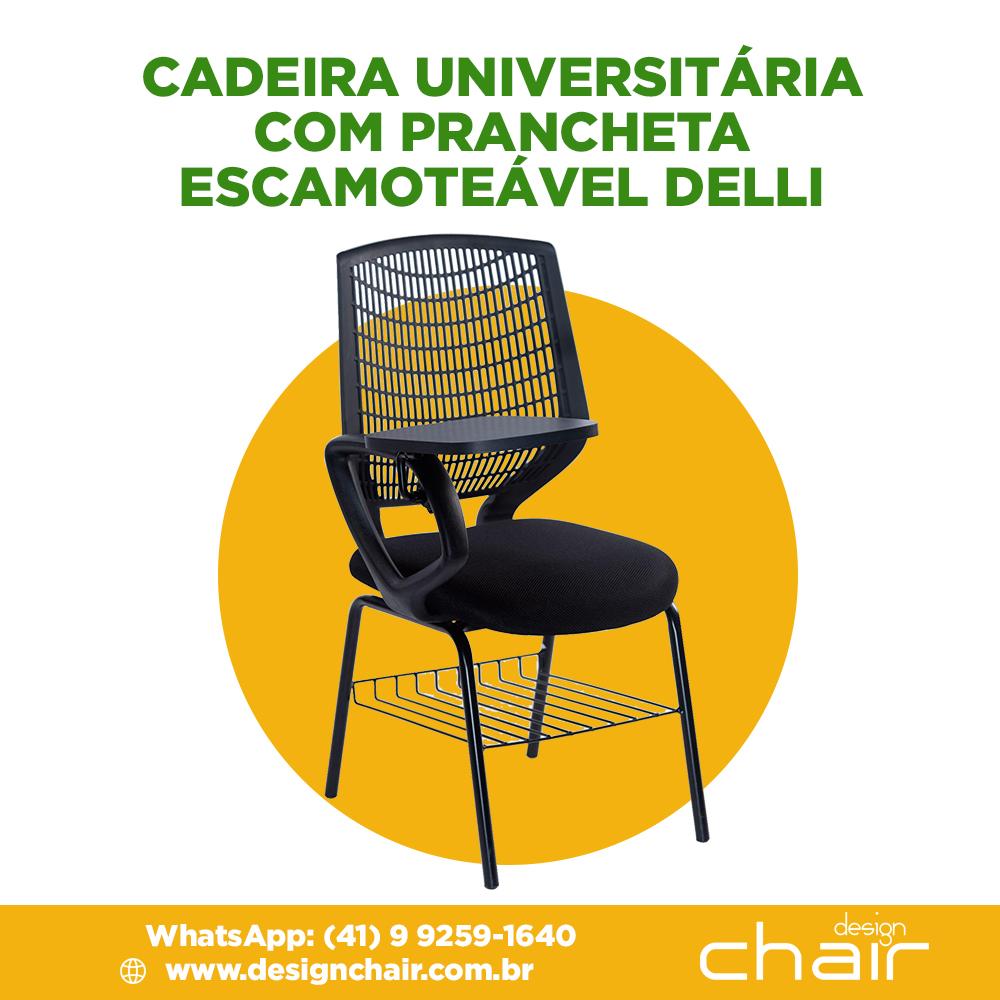 Cadeira Universitária com prancheta escamoteável Delli
