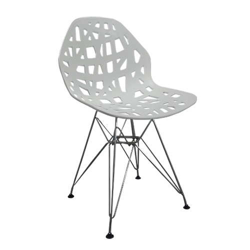Cadeira Decorativa Akron Base em Aço