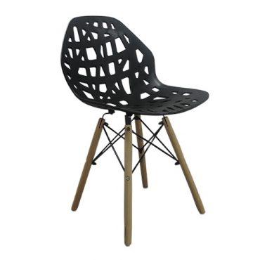 Cadeira Decorativa Akron Base em Madeira