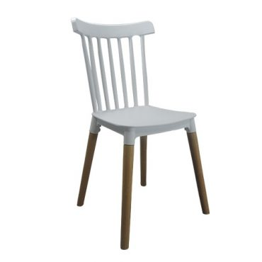 Cadeira Decorativa Windsor Base em Madeira