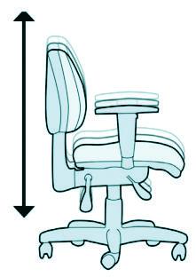 Cadeiras Back system - regulagem de altura