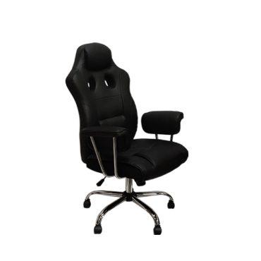 Cadeira Gamer Presidente Com Apoio Lombar Porsche Preta