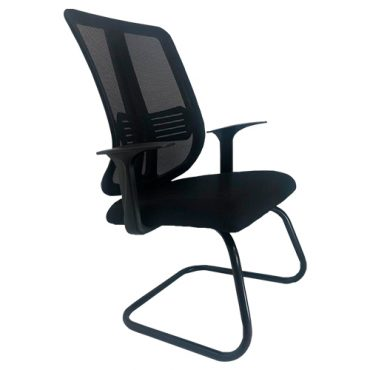 Cadeira Interlocutor Base Fixa Tela Mesh Paradise
