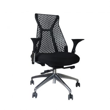Cadeira Diretor Moderna Inspired Miller Base Alumínio Preta
