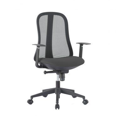 Cadeira Diretor Senna Base Nylon Preta