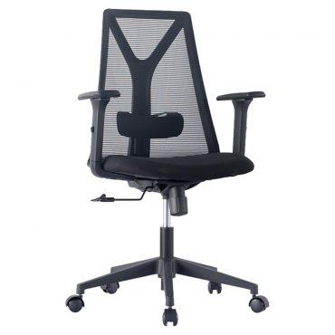 Cadeira Executiva Moderna Absolut Base Nylon Preta