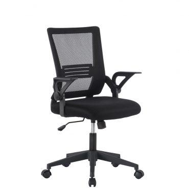 Cadeira Executiva Tela Mesh Prime Base Nylon Braço Dobrável Preta