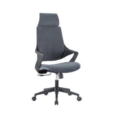 Cadeira Presidente Estofada Nasa Base Nylon Preta