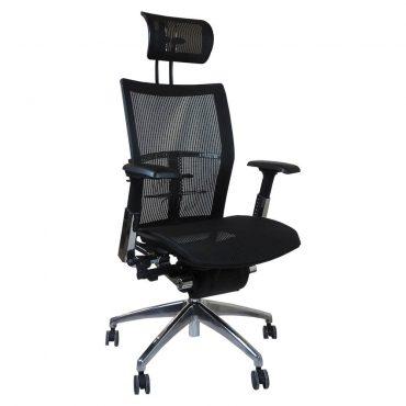 Cadeira Presidente Ergonômica Maximus Base Alumínio Preta